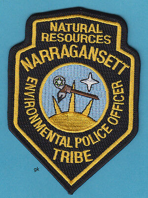 NARRAGANSETT TRIBE RHODE ISLAND TRIBAL ENVIRONMENTAL  POLICE SHOULDER PATCH