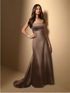 Espresso Alfred Angelo Bridesmaids Dress Size 4