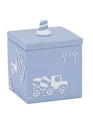 Kids Bathroom Cotton Jar-Kassatex Kids Construction Bath - Kids Bathroom Accessories