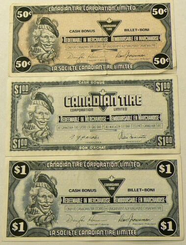 Canadian Tire Coupons Lot of 12 Notes #1925