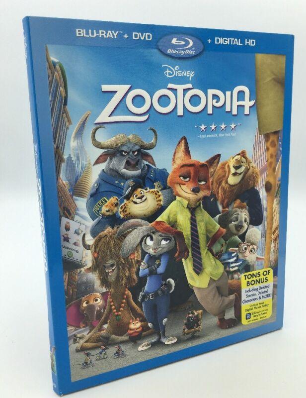 Zootopia (Blu-ray+DVD+Digital HD, 2016) NEW w/ Slipcover; Disney