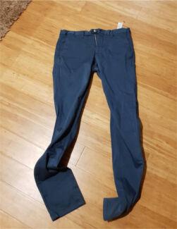 Zara Man Navy Trousers BRAND NEW MEDIUM