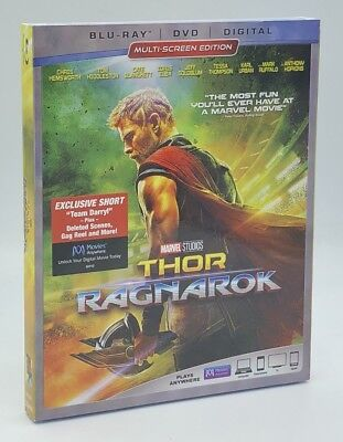Thor  Ragnarok  Blu Ray Dvd Digital  2018  2 Disc Set  New W  Slipcover  Marvel