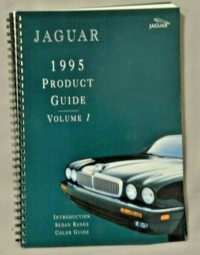 Jaguar 1995 Product Guide Volume 1  XJ6 XJ12 XJR with color charts