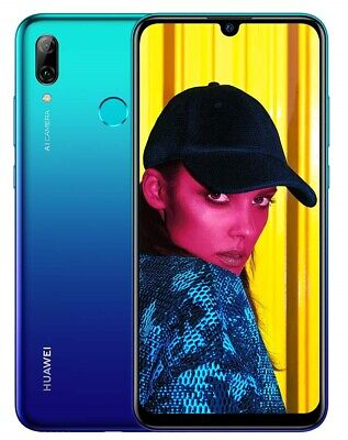Huawei P Smart 4G Smartphone 64GB Unlocked - Aurora Blue (Smashed Screen) B-
