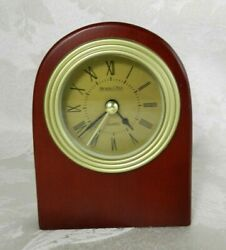 Michael C Fina Wood Desk Clock Quartz Mahogany Color 5
