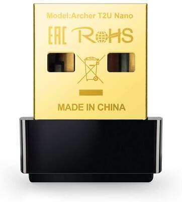 TP-Link Archer T2U Nano AC600 Nano Inalámbrico USB Adaptador Wifi Dongle 600Mbps