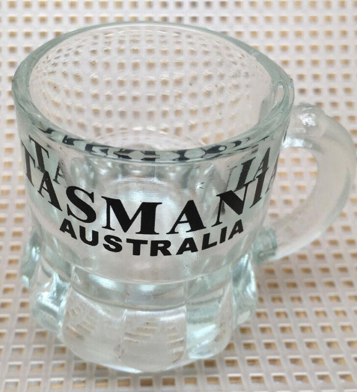 Souvenir handled shot glass mini beer mug Tasmania Australia