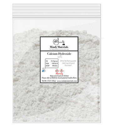 Calcium Hydroxidehydrated Lime 99 Pure Min. 3lb Bag
