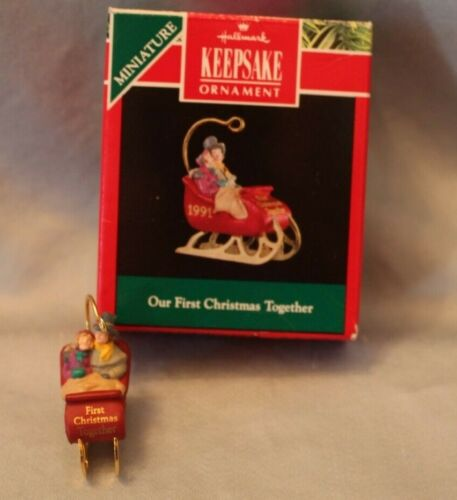 Hallmark Keepsake Miniature Our First Christmas Together Ornament 1991