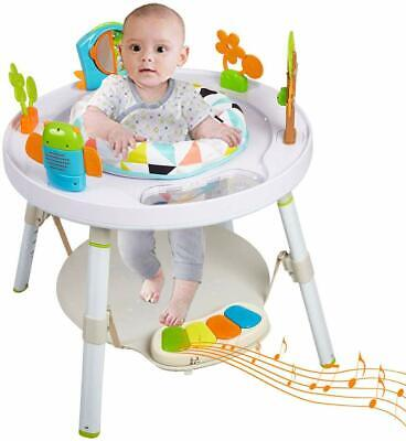 3 in 1 Baby High Chair Interactive Convertible Play Table Seat Sit, Jump & Stand