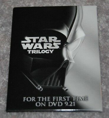 Star Wars Trilogy Metal Cardboard Pinback