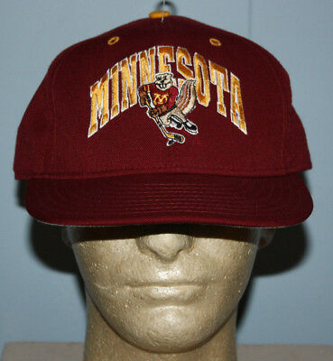 Vintage Pro Line Minnesota Gophers Hockey Goldy Fitted Hat Cap 7 3 4