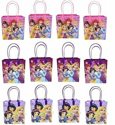 12PCS Disney Princess Goodie Party Favor Gift Birthday Loot Bags NEW