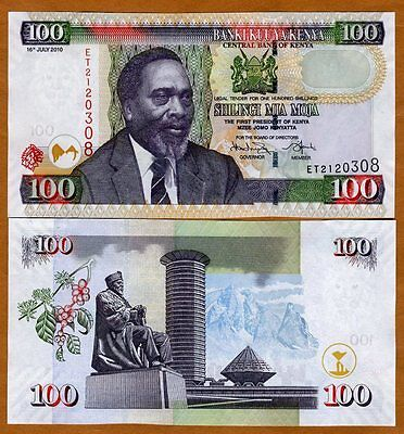 Kenya, 100 shillings, 2010, P-48e, UNC