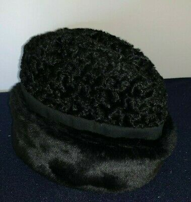 VERMONT COUNTRY STORE Men's Black Fake Fur HAT (Size Large) Made in the (Stores In The Country)