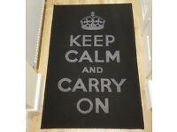 Carpet - Matrix Themes Black - White Carry On Rug