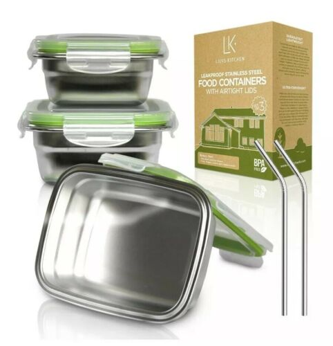 LILYS KITCHEN Stainless Food Containers with LIFETIME Lids a