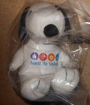 Rare Nib Metlife Peanuts Snoopy  Metlife Values  6  7  Plush Toy New In Bag