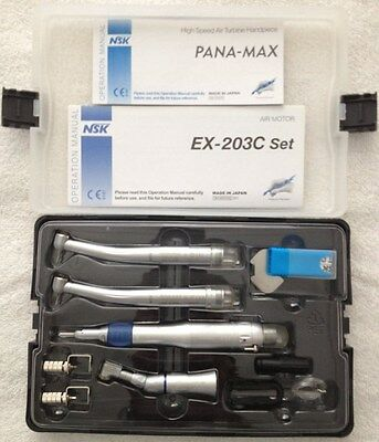 Dental Wrench Type Handpiece Kit Ex203c Pana-max High Speed 2 Hole Us Stock