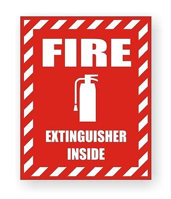 Fire Extinguisher Inside Safety Decal Sticker Industrial Safety Label Marker
