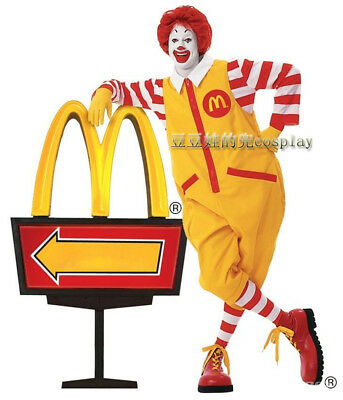 Ronald McDonald Cosplay Costumes Suit Adult Funny Outfit Halloween Christmas](Adult Ronald Mcdonald Costume)