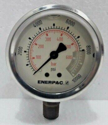 Enerpac G2535l Hydraulic Pressure Gauge Glycerin Filled 10 000psi