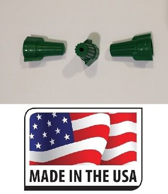 (1000) Green (P11) Double Winged Nut Wire Connector Grounding Ground TWIST