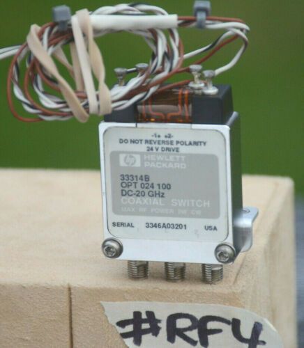 Agilent Coaxial Switch  DC to 20GHz 33314C 33314-60011