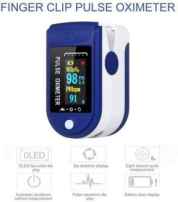 Oled Finger Pulse Oximeter Blood Oxygen Saturation Heart Rate Spo2 Monitor Us