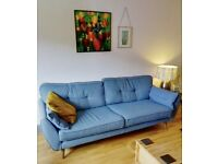 French Connection 4 seat Sofa + cuddle sofa