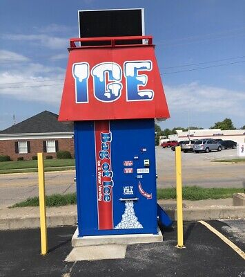 Bag Of Ice Vending Machine Stand Alone Fully Functional 2 Years Old Paid 40000