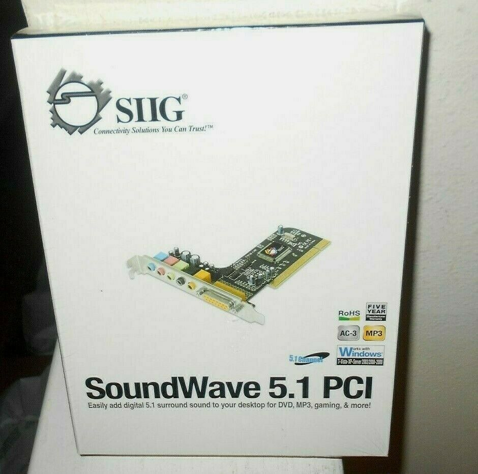 SIIG SoundWave PCI  Sound Card 2009 New Sealed Free Shipping