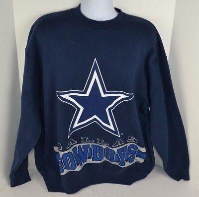 - Vtg 90s Dallas Cowboys Jersey Print Sweatshirt, Printed Front/Back 2XL USA Made
