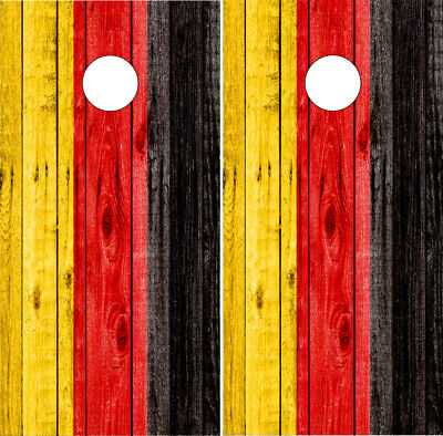 German Flag Cornhole Wrap Germany Board Decals Bag Toss Stickers  (German Flag Bag)