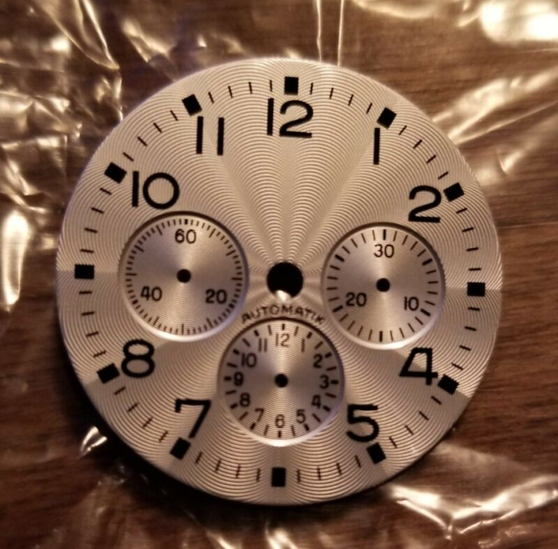 Fricker silvered dial for Lemania 1873 or Omega 1861