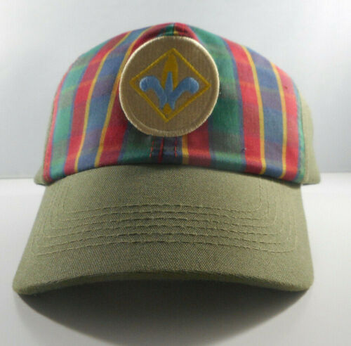 BSA Webelos Ball Cap - Boy Scouts of America Size S/M - Green w/ Plaid - NOS