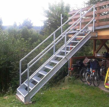 Dach Tor Gelander Terrasse Treppe Zaun Stahl Edelstahl Metall In