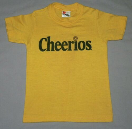 VTG 80S CHEERIOS T-SHIRT YOUTH KID SzS 6/8 USA MADE SIGNAL 50/50 SINGLE STITCH