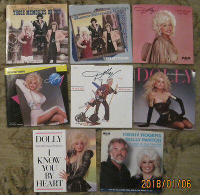 Lot Of 8 Dolly Parton 45Rpm Picture Sleeves  Only