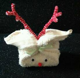 Rudolph washcloth and soap set