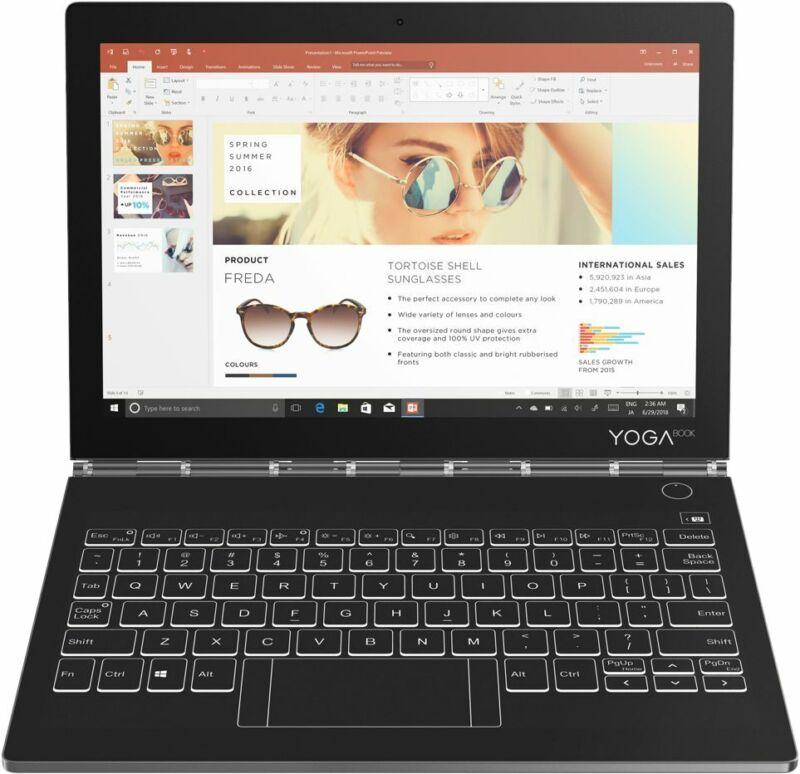 "Lenovo Yoga Book C930 2-in-1 10.8"" Touch-Screen Laptop Intel Core i5 4GB Memory 128GB Solid State Drive Iron Gray YOGA BOOK C930 ZA3S0136US"