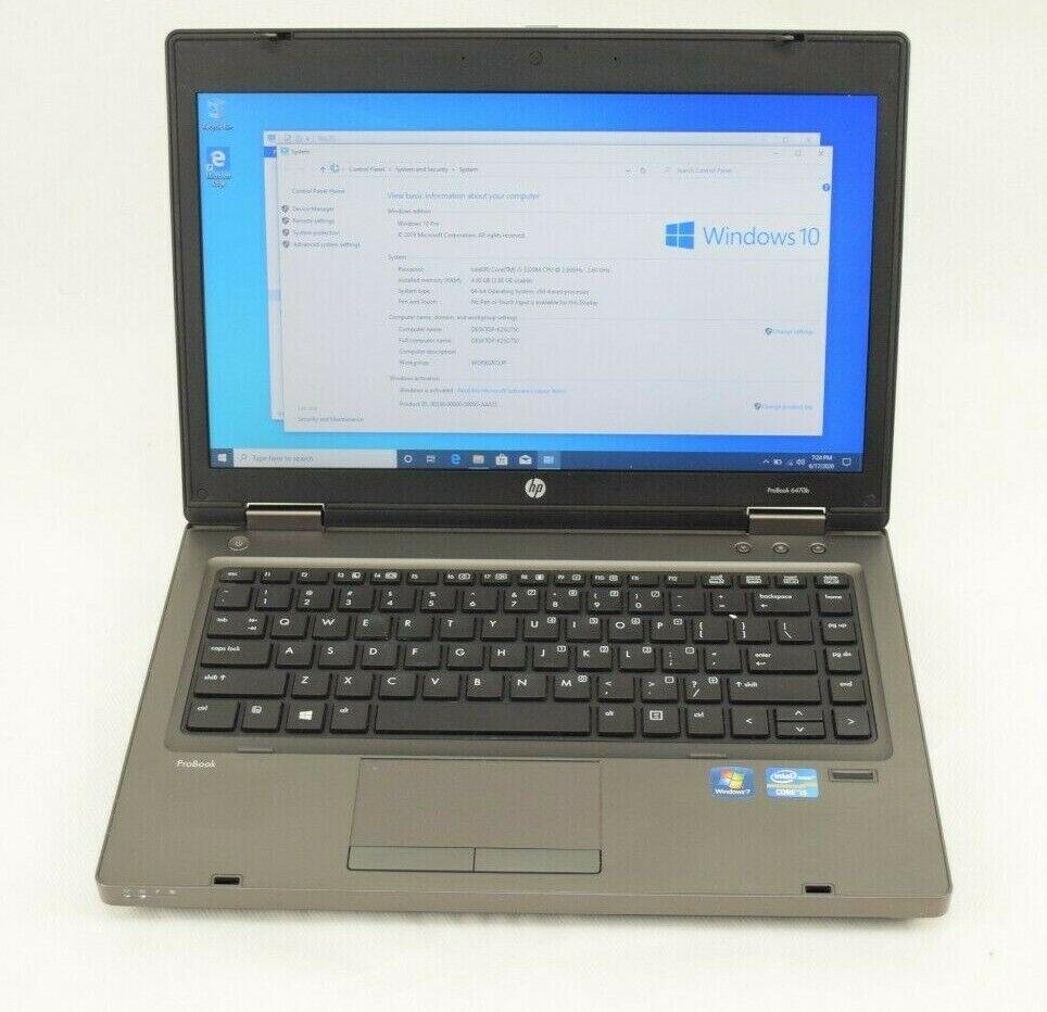 Laptop Windows - HP 6470b Laptop Intel i5 Windows 10 4GB RAM 320GB Hard Drive