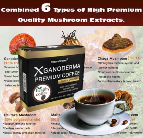 Naturaltreme XGanoderma Premium 100% Arabica Black Coffee With 6 SUPER MUSHROOMS