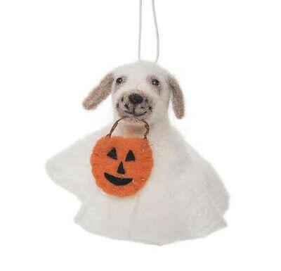 Gallerie Ii Halloween (GALLERIE II HANDMADE WOOL DOGGY GHOST DOG IN COSTUME HALLOWEEN HOLIDAY)