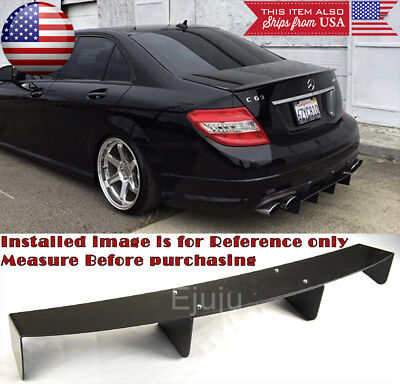 34 x 625 Shark Fin ABS Rear Bumper Splitter 4 Diffuser Fin Canard For  Nissan