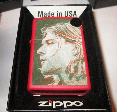 KURT COBAIN ZIPPO LIGHTER AUTHENTIC 2016 LICENSED ROCK N ROLL NIRVANA