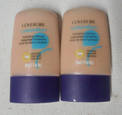 2 COVERGIRL CG SMOOTHERS HYDRATING MAKEUP, 740 natural beige
