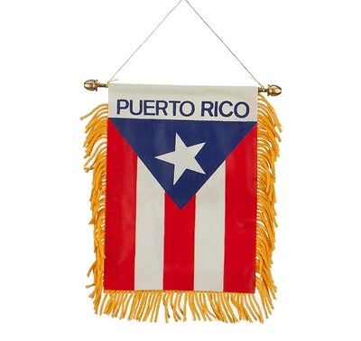 Puerto Rico Flag Car - Puerto Rico Window Hanging Banner Flag Great for Car