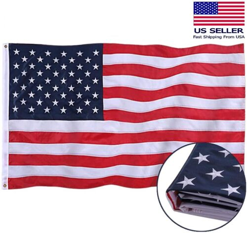 3x5 Ft Durable Nylon American US Flag All Weather Tough Fade Resistant